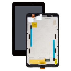 LCD compatible with Acer Iconia Tab 8 A1-840, (black, with touchscreen, with frame)