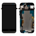 LCD for HTC One M8 Cell Phone, (black, with touchscreen, with front panel)