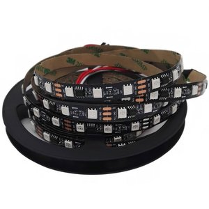RGB LED Strip SMD5050, WS2811 (black, with controls, IP20, 12 V, 60 LEDs/m, 5 m)