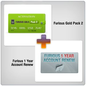 Furious Special Pack 2 = Acceso de 1 año a Furious Gold + Furious Pack 2