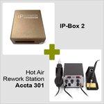 IP-Box 2 + Estación de soldadura de aire caliente Accta 301 (220V)