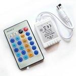 Контроллер с ИК пультом HTL-42 (одноцветная лента, 5050, 3528, 72 Вт)