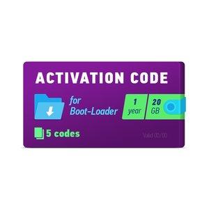 Активационный код Boot-Loader 2.0 (1 год, 5 кодов х 20 ГБ)